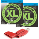 D'Addario EXL165TP 045-105 (2-Pack & FREE Red Pro-Winder)